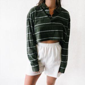 Vintage Oversized Green & Gray Polo XL